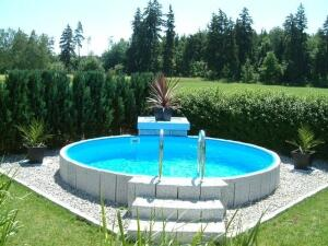 Rundbecken FUN von Future Pool als Komplett Set, Folie blau 0,6 mm